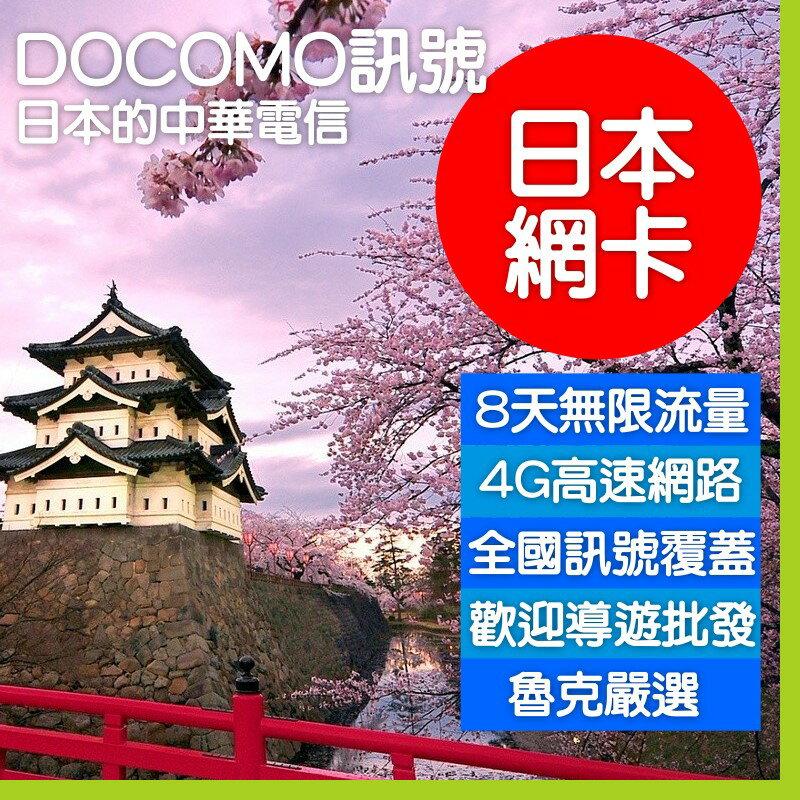日本 Docomo上網卡 7天 8天 2GB 7GB 高速後限速吃到飽 現貨特價