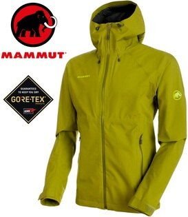 Mammut長毛象防水透氣Gore-Tex風雨衣防水外套登山雨衣ConveyTourHS男款1010-260304257萌芽綠