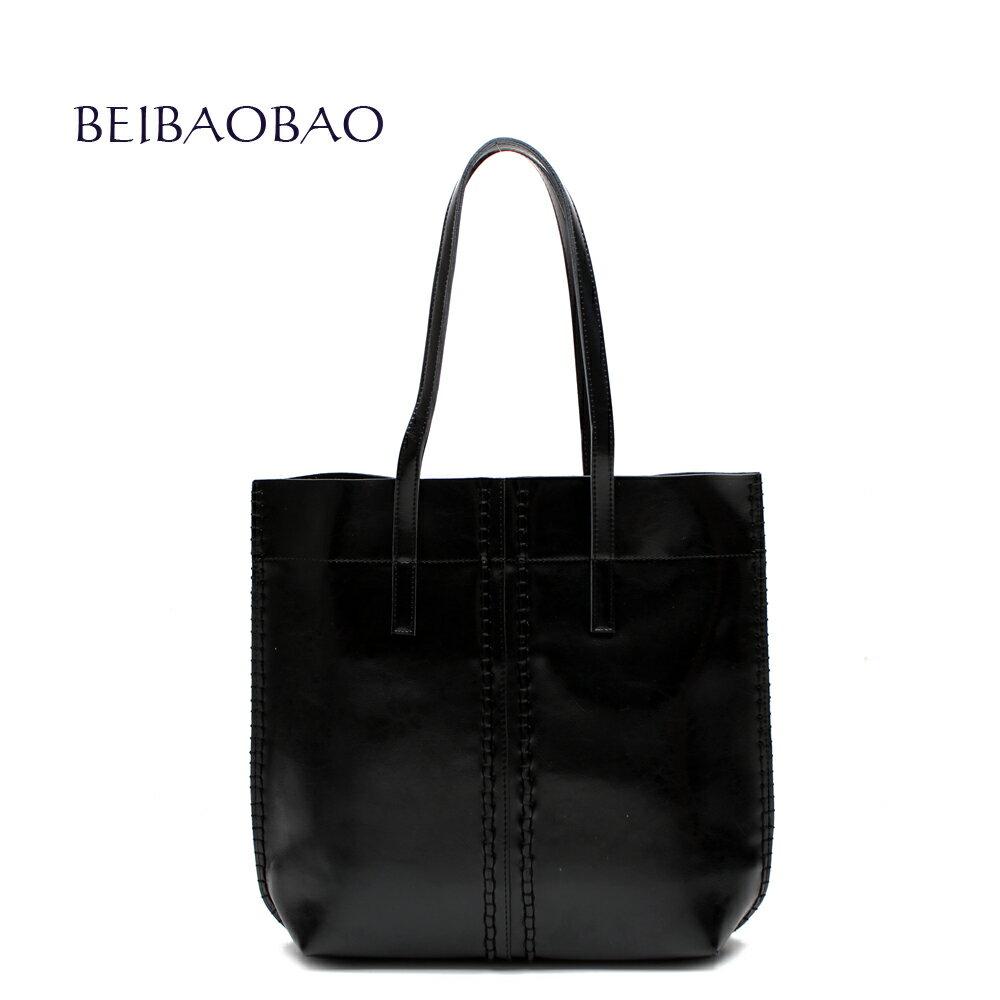 【BEIBAOBAO】浪漫巴黎真皮肩背包(共三色 時尚黑) 0