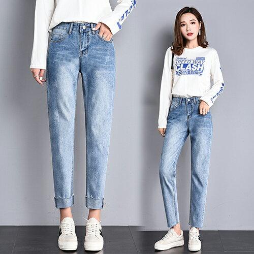高腰破洞牛仔褲(4色S~2XL) 【OREAD】 2