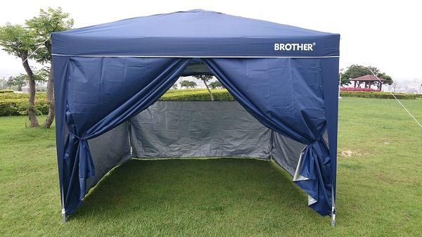 BROTHER 兄弟牌3m*3m快速摺疊休閒帳專用~防水防風圍布紗窗/4片組!