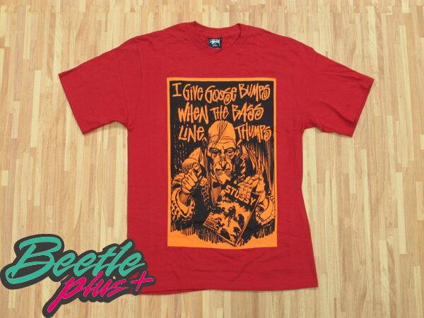 BEETLE PLUS 西門町實體店面 STUSSY X CREEPY 恐怖漫畫 聯名 GIVE GOOSE BUMPS TEE 紅 橘 0
