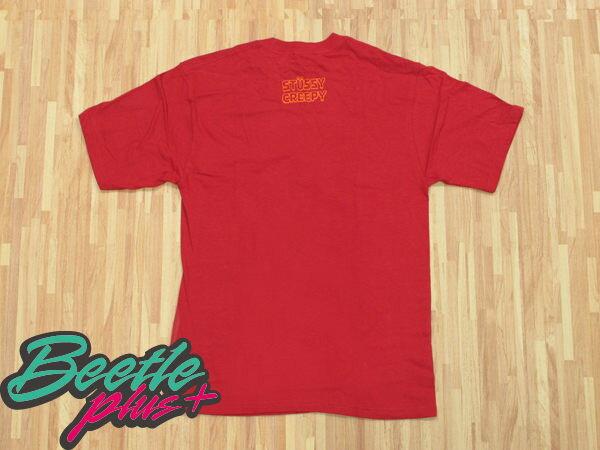 BEETLE PLUS 西門町實體店面 STUSSY X CREEPY 恐怖漫畫 聯名 GIVE GOOSE BUMPS TEE 紅 橘 1