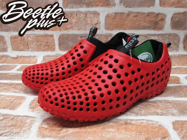 BEETLE PLUS 出清特價 下殺 6折 全新 日本最新品牌 CCILU 洞洞鞋 AMAZON SUMMER AM 紅 黑 1
