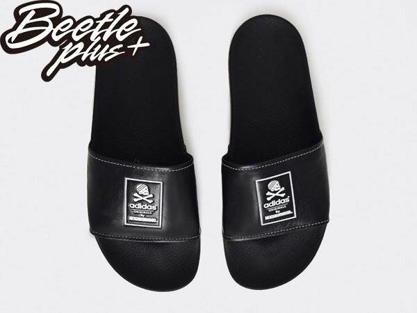 BEETLE NH ADILETTE ADIDAS NEIGHBORHOOD 黑白 GD 余文樂 拖鞋 B26094 2