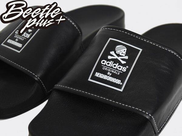 BEETLE NH ADILETTE ADIDAS NEIGHBORHOOD 黑白 GD 余文樂 拖鞋 B26094 1