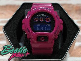 BEETLE PLUS 全新 CASIO G-SHOCK CRAZY COLOR DW-6900PL-4DR 金屬錶面 深紫 桃紅 亮面錶帶 電子 手錶 三眼