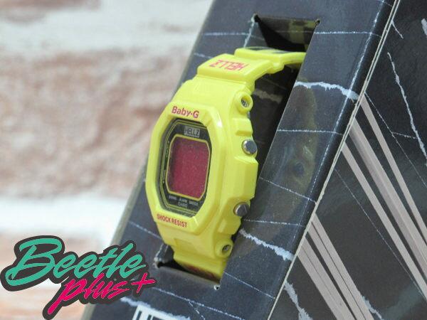 BEETLE PLUS 西門町 CASIO THE HELLZ BELLZ x BABY-G 5600 聯名 電子 手錶 黃色 黑格紋 1