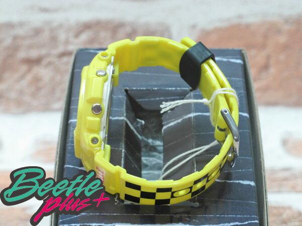 BEETLE PLUS 西門町 CASIO THE HELLZ BELLZ x BABY-G 5600 聯名 電子 手錶 黃色 黑格紋 2
