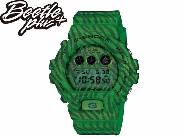 BEETLE PLUS 全新 2014 CASIO G-SHOCK DW-6900ZB-3DR 綠 斑馬 迷彩 紋路 西瓜 叢林 三顯 手錶 卡西歐 WATCH 0