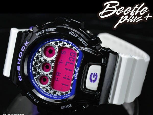 BEETLE PLUS 全新 CASIO G-SHOCK DW-6900SC-1DR 黑 白 桃紅 星星錶面 炫彩系列 殺人鯨 AJ11 電子錶 手錶 WATCH 1