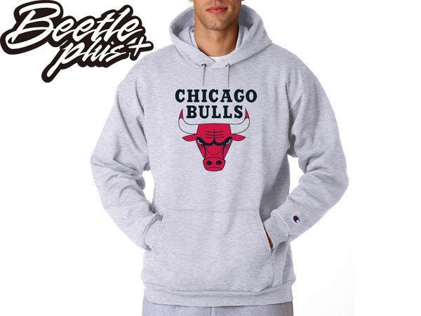 BEETLE PLUS CHAMPION 芝加哥 公牛 CHICAGO BULLS NBA 復古 ROSE JORDAN 灰紅 帽T 帽TEE