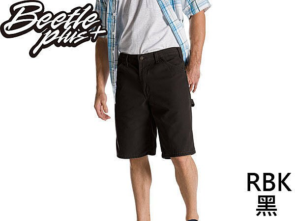 BEETLE PLUS DICKIES RELAXED FIT DX 201 RBK SHORTS 黑 工作短褲 帆布