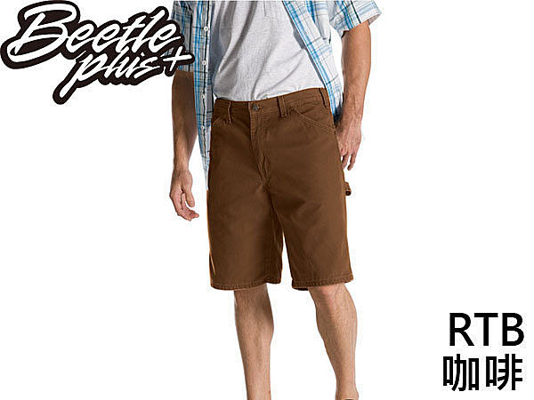 BEETLE PLUS DICKIES RELAXED FIT DX 201 RTB SHORTS 深咖啡 工作短褲