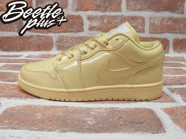 西門町 BEETLE PLUS 全新 NIKE GIRLS AIR JORDAN 1 PHAT LOW GS ICE PACK 香草冰淇淋 亮皮 352718-711 0