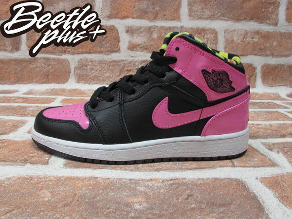 BEETLE PLUS 全新 NIKE GIRLS AIR JORDAN 1 PHAT GS 草莓 西瓜 粉紅色 亮皮 364771-061