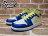 BEETLE PLUS 全新 NIKE GIRLS AIR JORDAN 1 MID GS 女鞋 黃藍白 喬丹 一代 復活節配色 555112-118 1