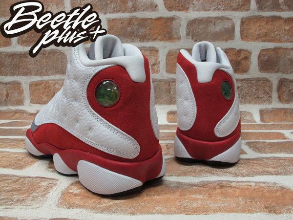 BEETLE PLUS NIKE AIR JORDAN 13 RETRO BG GS 灰 白紅 女鞋 灰頭 414574-126 2