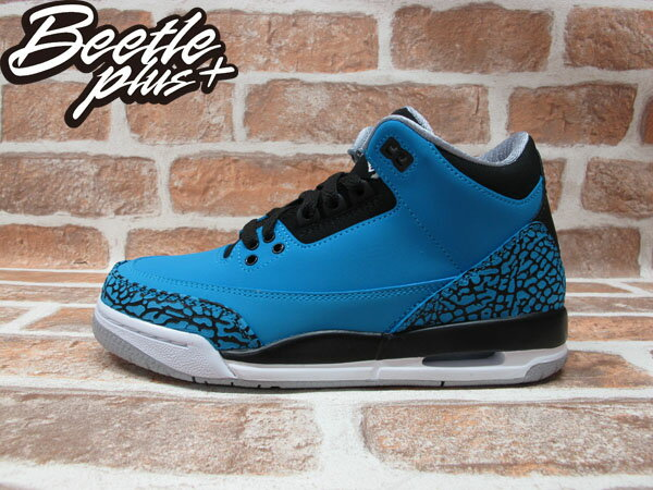 BEETLE PLUS 全新 NIKE AIR JORDAN III 3 RETRO GS POWDER BLUE 藍 爆裂紋 麂皮 阿凡達 女鞋 398614-406 0