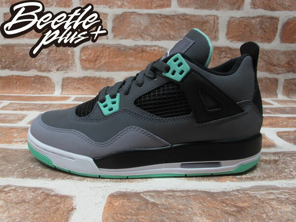 BEETLE PLUS 全新 NIKE AIR JORDAN 4 IV RETRO GREEN GLOW GS 四代 灰 TIFFANY綠 夜光 408452-033