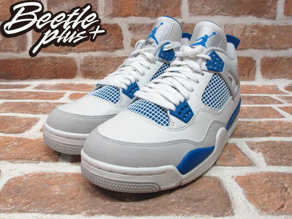 BEETLE PLUS 全新 NIKE AIR JORDAN 4 IV RETRO GS 復刻 白藍 408452-105 MILITARY BLUE 1