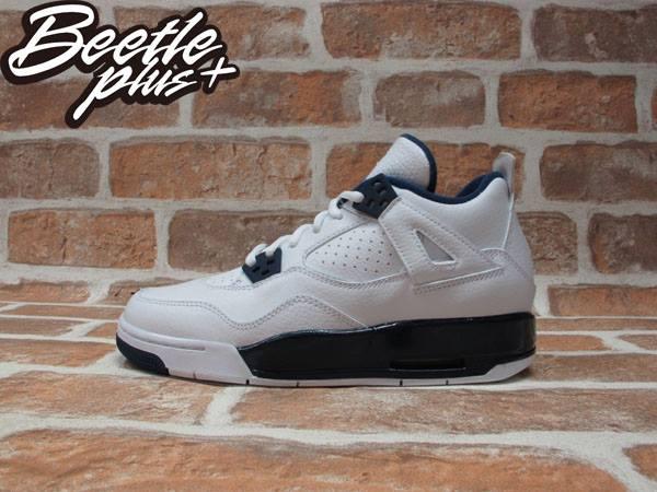 BEETLE PLUS NIKE AIR JORDAN 4 RETRO BG GS COLUMBIA 4代 荔枝皮 白藍 深藍 哥倫比亞 女鞋 籃球鞋 408452-107 0