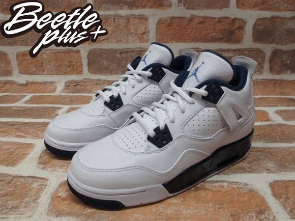 BEETLE PLUS NIKE AIR JORDAN 4 RETRO BG GS COLUMBIA 4代 荔枝皮 白藍 深藍 哥倫比亞 女鞋 籃球鞋 408452-107 1