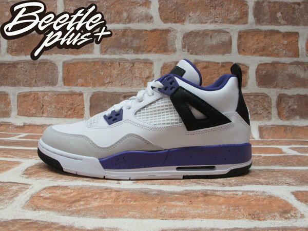 BEETLE PLUS NIKE AIR JORDAN 4 GS 白紫 潑墨 女 童鞋 AJ 四代 487724-108