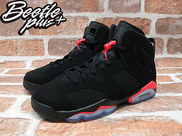 BEETLE PLUS NIKE AIR JORDAN 6 RETRO GS INFRARED 黑紅 女鞋 384665-023 1