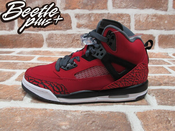 BEETLE PLUS NIKE AIR JORDAN SPIZIKE RETRO GS 史派克李 爆裂 AJ合體 黑紅 女鞋 317321-601 0