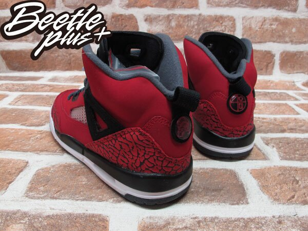BEETLE PLUS NIKE AIR JORDAN SPIZIKE RETRO GS 史派克李 爆裂 AJ合體 黑紅 女鞋 317321-601 2