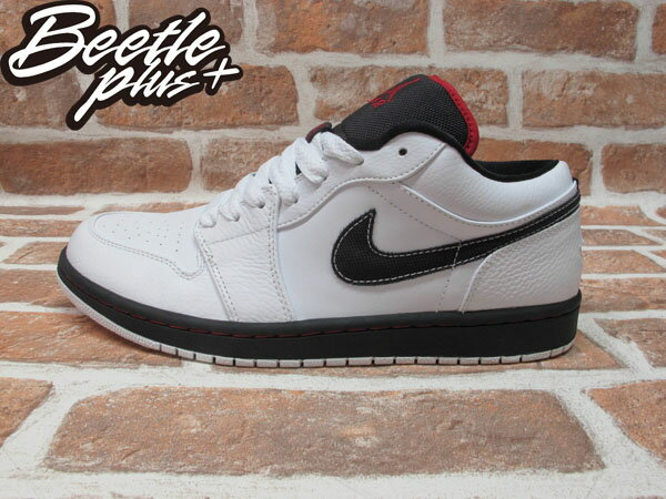 BEETLE PLUS 西門町 現貨 全新 NIKE AIR JORDAN 1 RETRO PHAT LOW 低筒 喬丹 一代 白黑 白紅 338145-161 0