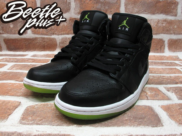 BEETLE PLUS 全新 NIKE AIR JORDAN 1 PHAT AJ1 BLACK ACTION GREEN AJ1 全黑 綠底 364770-007 1