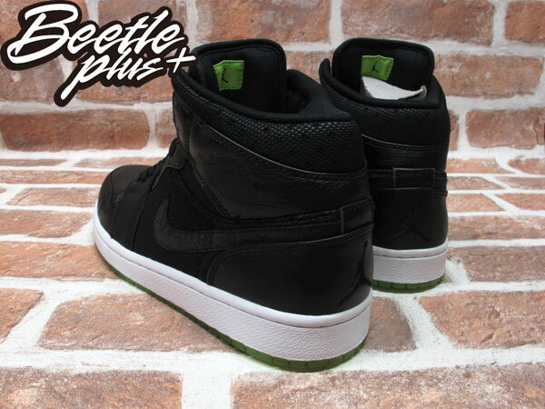 BEETLE PLUS 全新 NIKE AIR JORDAN 1 PHAT AJ1 BLACK ACTION GREEN AJ1 全黑 綠底 364770-007 2