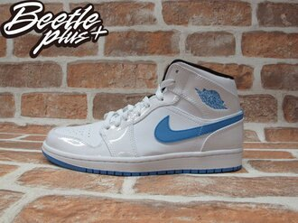 BEETLE PLUS NIKE AIR JORDAN 1 MID 白藍 北卡藍 傳奇藍 男鞋 LEGEND BLUE 554724-127