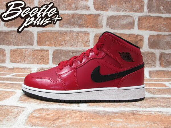 BEETLE NIKE AIR JORDAN 1 MID BG GS 紅黑 GYM RED 女鞋 554725-602