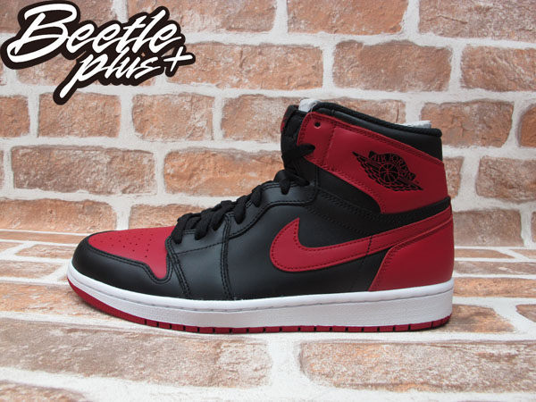 BEETLE PLUS NIKE AIR JORDAN 1 RETRO HIGH HI OG RED BRED AJ 一代 黑紅 555088-023 男鞋 0