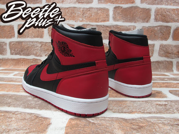 BEETLE PLUS NIKE AIR JORDAN 1 RETRO HIGH HI OG RED BRED AJ 一代 黑紅 555088-023 男鞋 2