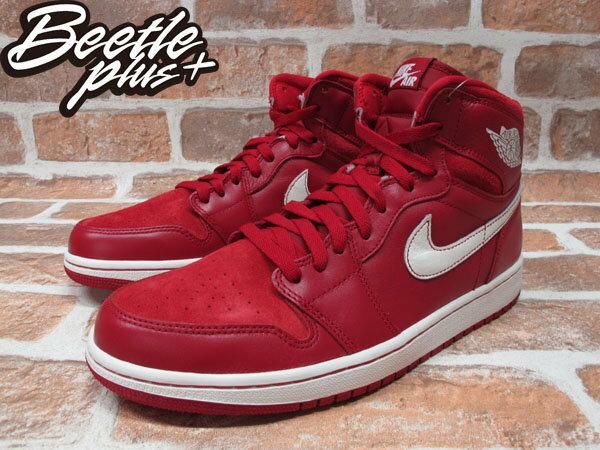 BEETLE PLUS NIKE AIR JORDAN 1 RETRO OG GYM RED 紅白 麂皮 全紅 籃球鞋 555088-601 1