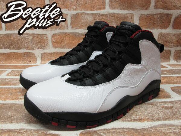 BEETLE PLUS 全新 NIKE AIR JORDAN 10 RETRO CHICAGO 白 黑 紅 芝加哥 公牛配色 BULLS 男鞋 310805-100 1