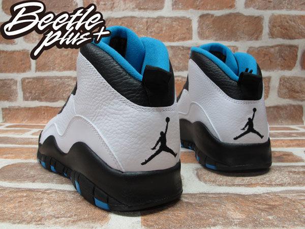 BEETLE PLUS 全新 NIKE AIR JORDAN 10 RETRO POWDER BLUE 白 黑 藍 10代 皮革 男鞋 310805-106 2
