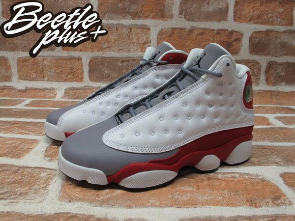 BEETLE PLUS NIKE AIR JORDAN 13 RETRO 灰 白紅 灰頭 男鞋 414571-126 1