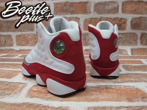 BEETLE PLUS NIKE AIR JORDAN 13 RETRO 灰 白紅 灰頭 男鞋 414571-126 2