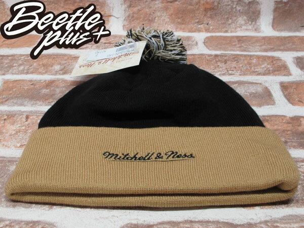 BEETLE PLUS 全新 MITCHELL&NESS NFL BEANIE LOGO NEW ZEALAND SAINTS 聖徒隊 毛線帽 黑 土黃 毛帽 MN-180 2