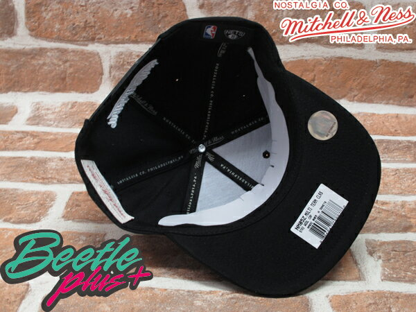 BEETLE PLUS MITCHELL&NESS NBA 布魯克林籃網 BROOKLYN NETS LOGO 黑 草寫字 SNAPBACK 後扣棒球帽 MN-108 2