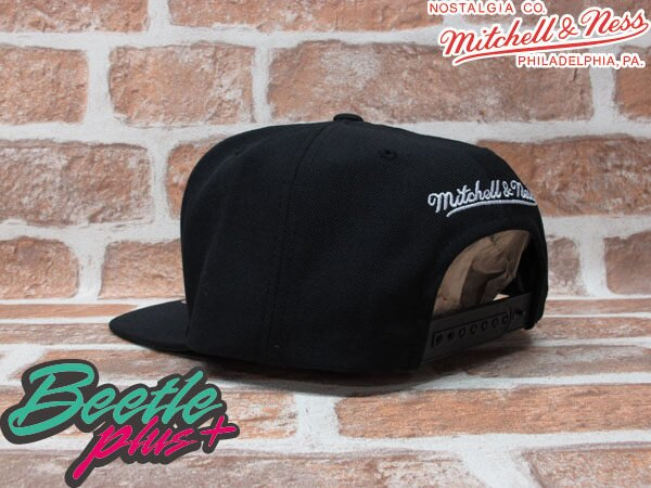 BEETLE PLUS MITCHELL&NESS NBA 布魯克林籃網 BROOKLYN NETS LOGO 黑 文字 SNAPBACK 後扣棒球帽 MN-131 1
