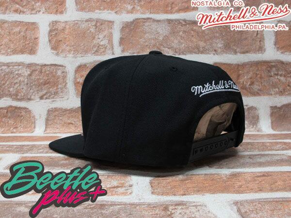 BEETLE PLUS MITCHELL&NESS NBA 布魯克林籃網 BROOKLYN NETS LOGO 黑 文字 SNAPBACK 後扣棒球帽 MN-131 1