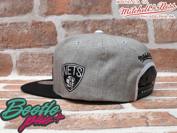 BEETLE PLUS MITCHELL&NESS NBA 布魯克林籃網 BROOKLYN NETS 灰黑 文字 SNAPBACK JAY-Z 後扣棒球帽 MN-161 1