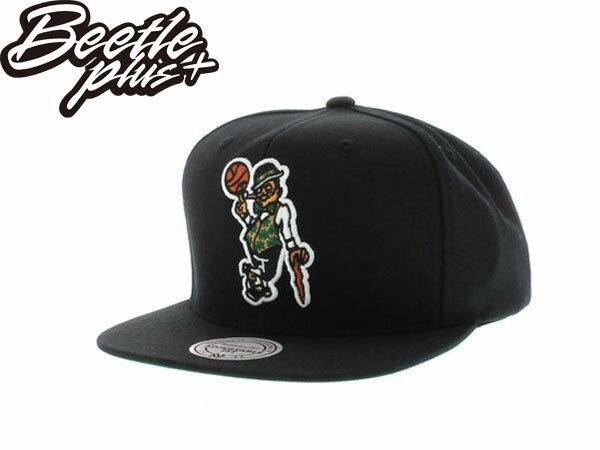 BEETLE PLUS 全新 MITCHELL&NESS NBA 波士頓 賽亞提克 CELTICS LOGO 全黑 SNAPBACK 後扣棒球帽 MN-194 1