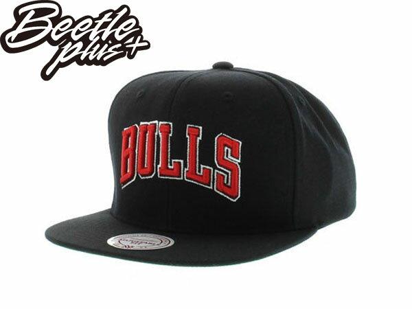 BEETLE PLUS 全新 MITCHELL&NESS NBA CHICAGO BULLS 芝加哥 公牛 文字 全黑 SNAPBACK 後扣棒球帽 MN-198 1